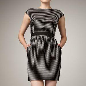 Shoshanna Striped Cap Sleeve Dress